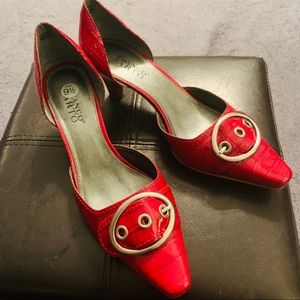 Bright Red Franco Sarto shoes size 9.5